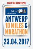 Logo DVV Verzekeringen Antwerp 10 Miles & Marathon 23 april 2017