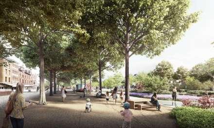 Meer bomen na de heraanleg van de Gedempte Zuiderdokken