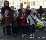 ik met mijn 7 kindjes op de vrijdagmarkt antwerpen