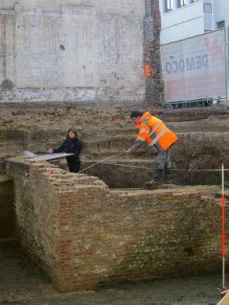 Stukje 16de-eeuwse muur Antwerpse Citadel