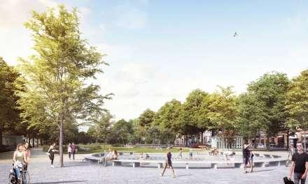 Het Museumplein van de heraangelegde Gedempte Zuiderdokken