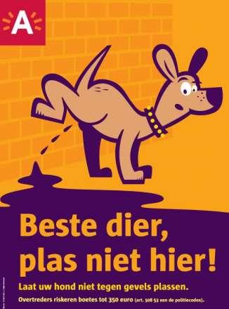 Affiche sensibilisering hondenplasjes