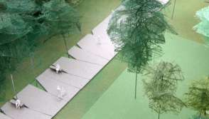 Bovenzicht ontwerp Park Groot Schijn in Deurne