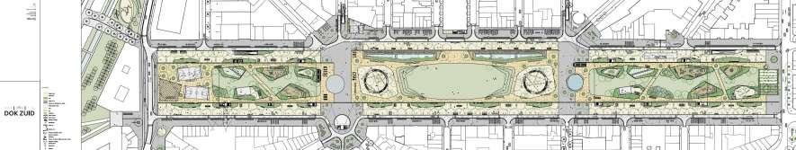Plan van de heraangelegde Gedempte Zuiderdokken