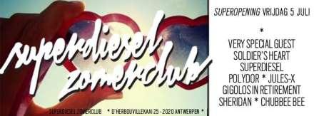 Superdiesel zomerclub opent haar deuren op vrijdag 5 juni 2013 in Petrol