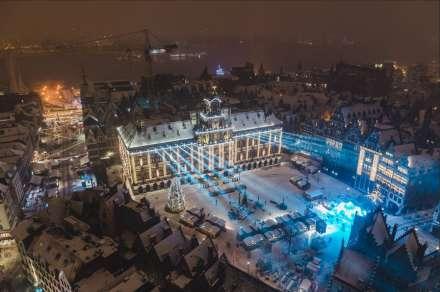 Winter in Antwerpen vanop de kathedraal